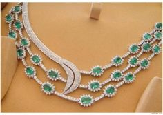 """Christel""...only $19,600 or P862,400!! Designer 12.09ct Diamond & Emerald Necklace / 45.450g! Imported, world-class quality, not pre-owned, not pawned, not stolen. We deliver worldwide <3"