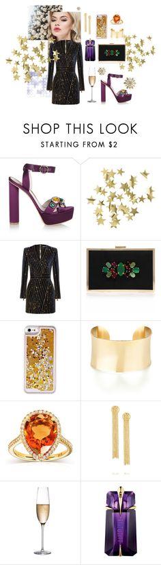 """Golden party"" by olga-highball on Polyvore featuring мода, Sophia Webster, H&M, Balmain, Miss KG, Kobelli, Arme De L'Amour, RogaÅ¡ka и Thierry Mugler"