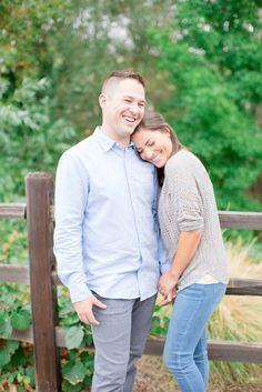 We loved Tessa & Tyson's idea to do their engagement photos in El Dorado Hills Town Center!