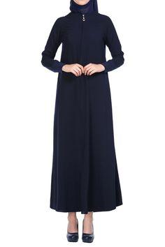 Butikzade - Demet Ferace DF-1021-02-Lacivert High Neck Dress, Dresses For Work, Fashion, Turtleneck Dress, Moda, Fashion Styles, Fasion, High Neckline Dress