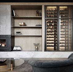 Interior Architecture, Interior Design, Australian Architecture, Wine Display, Living Room Inspiration, Interior Inspiration, Apartment Design, Wine Storage, Living Spaces