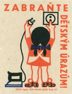 czechoslovakian safety #matchbox label To design and order your logo's advertising #matches GoTo: www.GetMatches.com or Call 800.605.7331 Today!