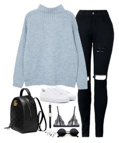"""Sem título #5320"" by fashionnfacts ❤ liked on Polyvore featuring MANGO, A.P.C., Gucci, La Perla, Daniel Wellington and Topshop"