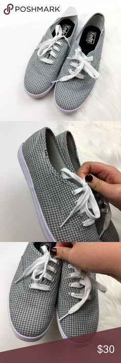 Keds Grey Plaid Check Sneakers Excellent pre owned condition! Size 7.5. Grey check. No trades!! 01151740gwpg Keds Shoes Sneakers