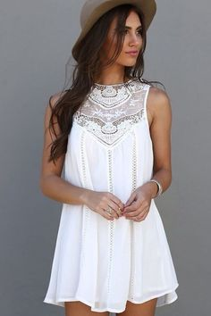 White tank dress (reviews indicate that it isn't as short as it appears in the pics) love the overall design; completely!