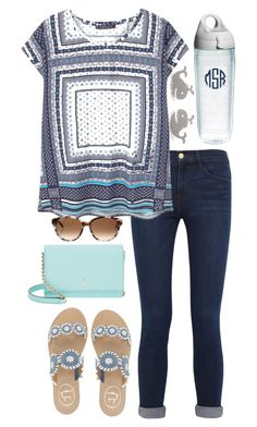 """""""Please enter my contest... Info in the d"""" by lbkatie17 on Polyvore featuring Frame Denim, Violeta by Mango, Jack Rogers, Kate Spade, Tervis and klm17bdayandschoolcontest"""