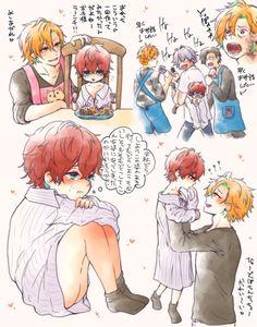 Kawaii Faces, Kawaii Cute, Dark Drawings, Cute Drawings, Cute Anime Boy, Anime Guys, Familia Anime, Anime Child, Cute Gay Couples