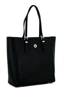 Work Bag Tommy Hilfiger Honey Finegrain Businessshopper Black Henkeltasche Shopper Und Taschen