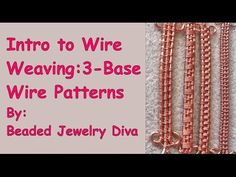 awesome DIY Bijoux - Wire Weaving With 3 Base Wires - Wire Weaving Intro