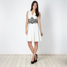 Star by Julien MacDonald Designer ivory lace waisted prom dress- at Debenhams.ie