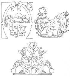 Easter Bunny Papercutting Motifs