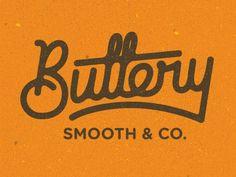 Buttery by Nick Slater #logo #identity #retro