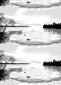 Lapintaika, grey, design by Riina Kuikka