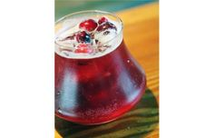 The Cherry Blanco, made with smoked cherry syrup, tequila and beer, is one of three summer cocktails from Cilantro Restaurant.
