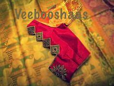 Blouse design Pattu Saree Blouse Designs, Silk Saree Blouse Designs, Bridal Blouse Designs, Blouse Neck Designs, House Of Blouse, Simple Blouse Designs, Designer Blouse Patterns, Sumo, Hand Embroidery Designs