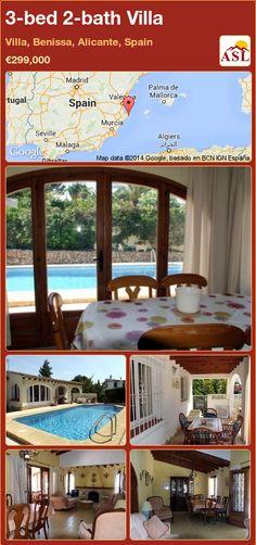 3-bed 2-bath Villa in Villa, Benissa, Alicante, Spain ►€299,000 #PropertyForSaleInSpain