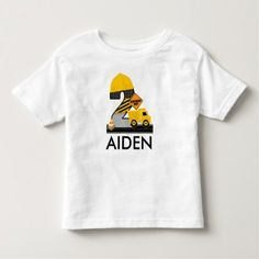 Construction Birthday Shirt, Dump Truck Age 2 Toddler T-shirt - click to get yours right now!