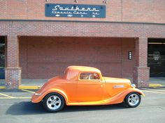 """GORGEOUS 1934 Ford Coupe (3 window) Mustang II front end/ 9""""Ford rear end/ Chevy 350 motor/ Herbert Cam/ Edelebrock intake and carb/ 67 SS double hump heads/ 4 SPEED transmission/ Leather int. - Built by Southern Custom Cars NC"""