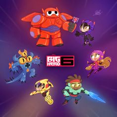 David Gilson: Big Hero 6 Chibis