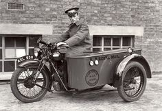 Pushing the envelope, 1934: A delivery rider shows off his BSA 499cc motorbike and sidecar. Just two years later, Morris Minor took over the job