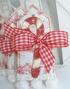 Candy Cane Christmas Tags