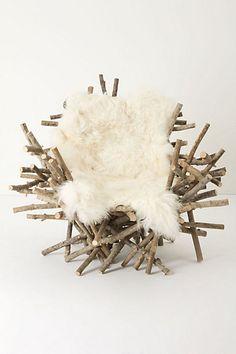 Branches & Fur Chair #anthropologie