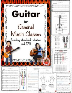 Fabulous resources for teaching guitar in the classroom. Suits grades 6-9