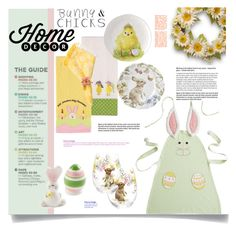 """""""Bunnies & Chicks"""" by rosie305 ❤ liked on Polyvore featuring interior, interiors, interior design, home, home decor, interior decorating, Pier 1 Imports, homedecor and bunnieschicks"""