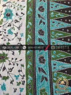 Batik Tulis Cirebon Motif Sarung Tumpal Hijau Latar Putih | #Indonesia Traditional #Batik Tulis #Design. Hand-dyed and HandDrawn Process http://thebatik.co.id/kain-batik-bahan/batik-tulis/