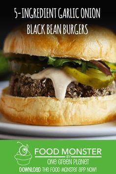 One Green Planet Burger Recipes, Veggie Recipes, Vegan Vegetarian, Paleo, Karen Barber, One Green Planet, Patty Melts, Black Bean Burgers, Morning Routines