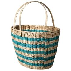basket, striped, turquoise, storage, container