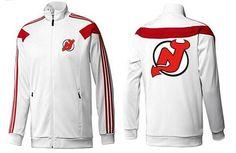 NHL New Jersey Devils Zip Jackets White-2 Cheap Jerseys for sale