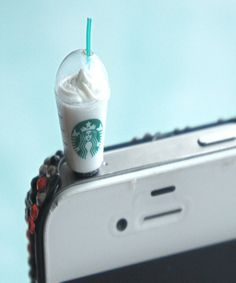 starbucks frappuccino phone plug