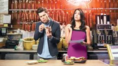 Is Cecily Strong trying out some food with Colin Jost?