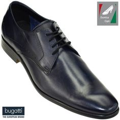 Bugatti férfi bőr cipő 311-29405-1100-4100 sötétkék