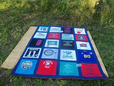 Custom Twin Size Tshirt Memory Quilt made with by sunshineofautumn, $200.00