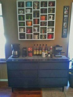 Love this coffee bar!  Love This Coffee Bar!       http://schaafhouse.blogspot.com/2013/12/the-coffee-bar.html
