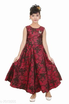 Checkout this latest Frocks & Dresses Product Name: *Girls Maxi/Full Length Party Dress * Fabric: Satin Sleeve Length: Sleeveless Pattern: Embroidered Multipack: Single Sizes: 1-2 Years, 2-3 Years, 3-4 Years (Bust Size: 11.5 in, Length Size: 34 in)  4-5 Years (Bust Size: 12 in, Length Size: 36 in)  5-6 Years (Bust Size: 12.5 in, Length Size: 38 in)  6-7 Years (Bust Size: 14.5 in, Length Size: 41 in)  Country of Origin: India Easy Returns Available In Case Of Any Issue   Catalog Rating: ★4 (242)  Catalog Name: Modern Comfy Girls Frocks & Dresses CatalogID_1171094 C62-SC1141 Code: 524-7313555-9971