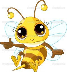 Illustration of angry Cute Bee in fly. Description from dreamstime.com. I…