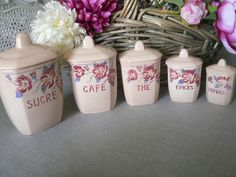 Série de pots à épices, modèle Mai - Digoin souvenirs chez les gds parents