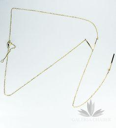 Złota krawatka wykonana ze srebra, regulowana.