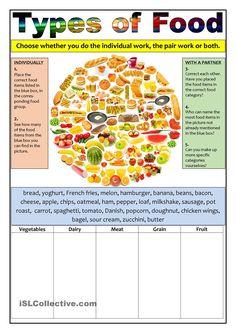 Cooking verbs esl vocabulary worksheets esl ideas pinterest types of food worksheet free esl printable worksheets made by teachers forumfinder Image collections