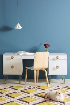 11 Stunning Home Offices With Feminine Desks - Chrissy Marie Blog Home Office Furniture, Home Office Decor, Unique Furniture, Furniture Design, Kitchen Furniture, Furniture Ideas, Office Ideas, Furniture Storage, Office Inspo