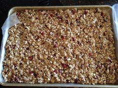 Ongoing Weight Lose Support: Healthy Granola Bar Recipe