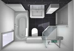 kleine badkamer indelen. Ruimte is 1.80x2.50m slim handoekradiator boven bad.
