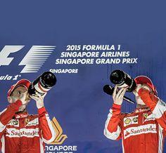 Ferrari duo on the podium atF1 Grand Prix of Singapore