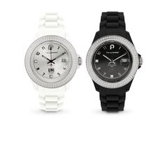 Black or white but always dazzling, here's a watch that will fit all your moods and all your outfits. Matching modern design and colors, made with timelessly elegant Swarovski Elements crystals and precise machinery, this watch will follow you days after days, in style.