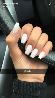 Image uploaded by Bree. Find images and videos about beauty, white and nails on We Heart It - the app to get lost in what you love. Simple Acrylic Nails, Best Acrylic Nails, Summer Acrylic Nails, Acrylic Nail Designs, Simple Nails, Squoval Acrylic Nails, Acrylic Nails Coffin Short, Square Acrylic Nails, Aycrlic Nails