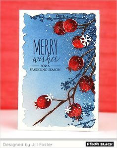 Featuring new stamps and dies from Penny Black's newest collection, Peaceful Winter 2017-- click through for details and a giveaway
