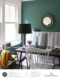Benjamin Moore Caribbean Teal 2123-20, part of our Color Trends 2014 palette.